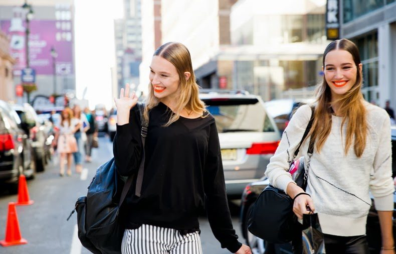 NYFW-New_York_Fashion_Week_Spring_Summer_2014-Street_Style-Say_Cheese-Collage_Vintage-Models-Orange-Smile- Smile :)